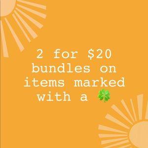 2 for $20 Bundles